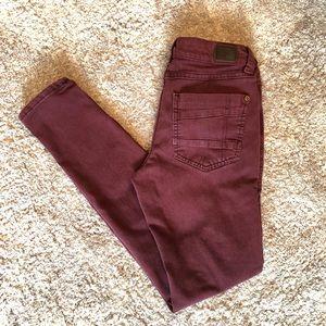 Maroon Skinny Jeans!